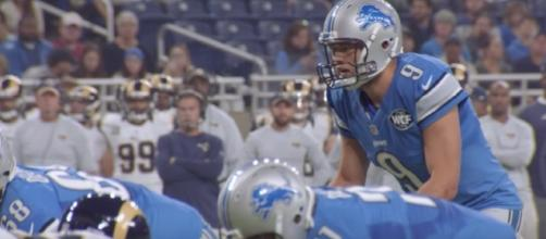 Detroit Lions quarterback Matthew Stafford may see limited time on the field in today's preseason game with the Colts. [Image via NFL/YouTube]