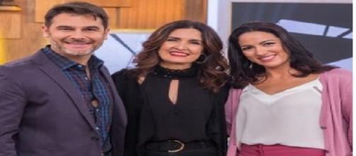 Fátima Bernardes ao lado do seu suposto namorado Fernando Gomes e a esposa Flávia Gomes