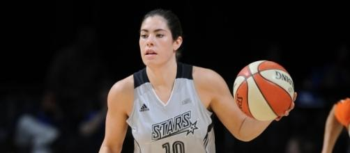 Kelsey Plum and the Stars picked up win No. 7 for their WNBA season on Saturday night. [Image via WNBA/YouTube]