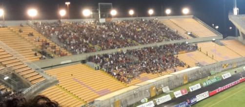 """Lo stadio """"Via del mare"""" di Lecce."""