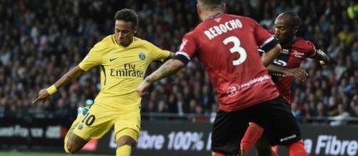 Neymar a été brillant pour sa première face à Guingamp (© DR)