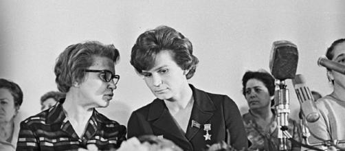 Tereshkova at the presidium of the plenary meeting of the Soviet Women's Committee (RIA Novosti wikimedia)