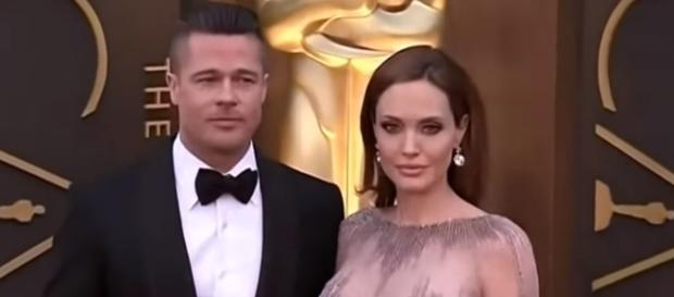 Brad Pitt and Angelina Jolie in an undated photo - YouTube/Abby's Wonderland