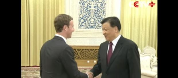 Senior Chinese Leader Meets with Facebook CEO Mark Zuckerberg. (via CCTV+/Youtube)