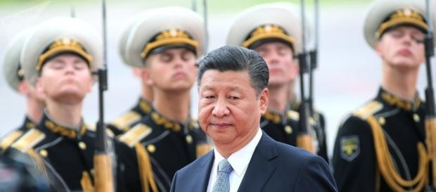 Xi Jinping, da China, logo após pousar em Moscou em 4 de julho deste ano