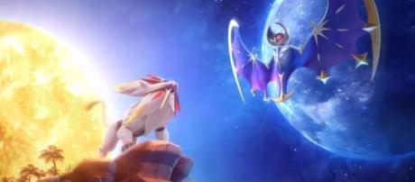 Solgaleo and Lunala, legendary pokemon of Pokemon Sun and Pokemon Moon Credits to: Youtube/The Official Pokemon Channel