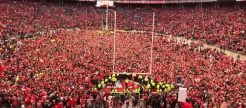 College Football Game celebration via wikimedia commons