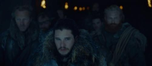 Jon Snow (Kit Harrington) leads a suicide mission in 'Game of Thrones' season 7, episode 5: 'Eastwatch.' / from 'YouTube' screen grab