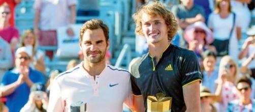 Roger Federer, subcampeón, y Alexander Zverev, campeón en Montreal