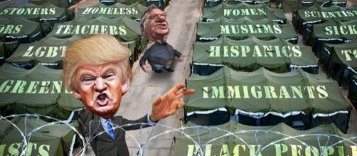 Trump and Arpaio share the same list of enemies. / [Image by Donkey Hotey via Flickr, CC BY-SA 2.0]