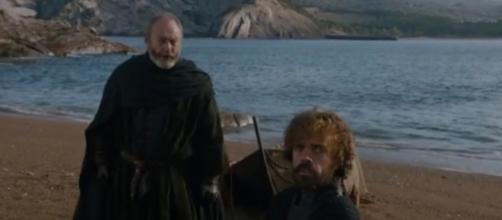 "Tyrion and Jaime reunites in ""Game of Thrones"" season 7 episode 5 - via YouTube/AresPromo"