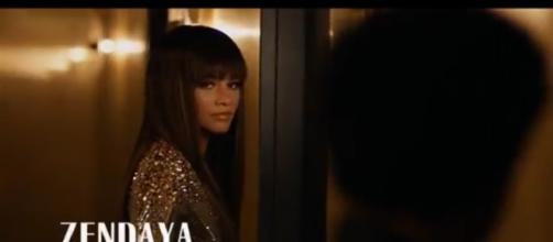 "Zendaya looks very hot in the latest music video of Bruno Mars' ""Versace on the Floor"" - via YouTube/Bruno Mars"