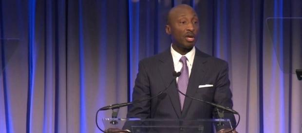 Merck CEO Kenneth Frazier incurs Trump's ire for quitting American Manufacturing Council. Image credit - UNAUSA01.