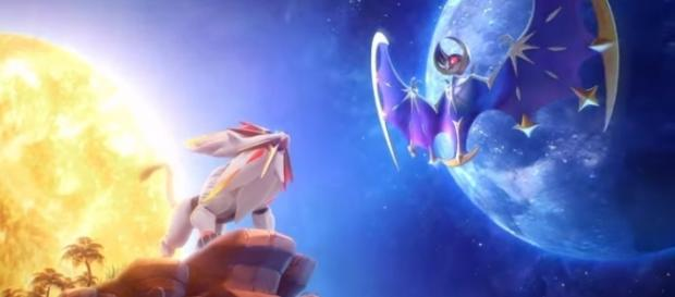 Solgaleo and Lunala, legendary pokemon of Pokemon Sun and Pokemon Moon Credits to: Youtube/The Official Pokemon Channel