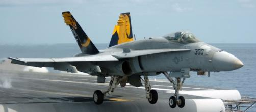 F-18A takes off (United States Navy wikimedia)