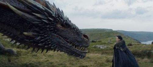 Jon Snow meets Drogon. Screencap: Ewaynn Edit via YouTube