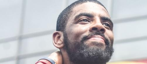Kyrie Irving during the Cavaliers' victory parade a couple of years ago. (via Wikimedia Commons).