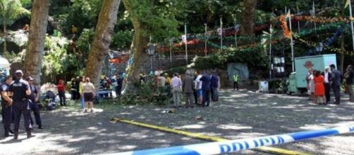 Lugar del accidente, en la localidad de Senhora do Monte. TV24