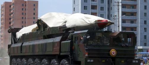 North Korea ballistic missile, Victory day 2013 - Stefan Krasowski | wikiw via Flickr