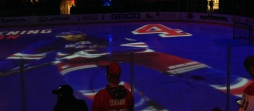 Pregame NY Rangers' ice at MSG prior to 2016-17 playoff home opener provided by Matthew Blittner
