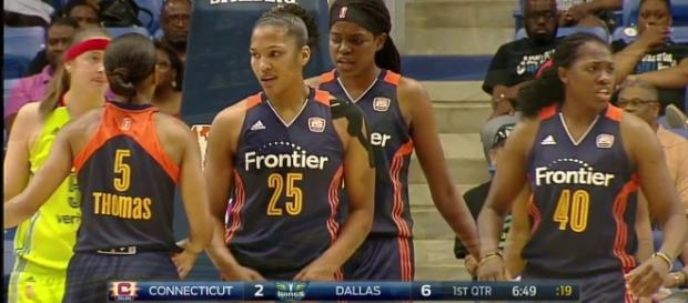 Connecticut looks to continue their winning ways as they visit the Atlanta Dream on Tuesday night. [Image via WNBA/YouTube]
