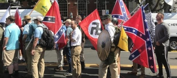 Unite the Right rally in Charlottesville, Virginia. / [Image by Tony Crider via Flickr, CC BY 2.0]