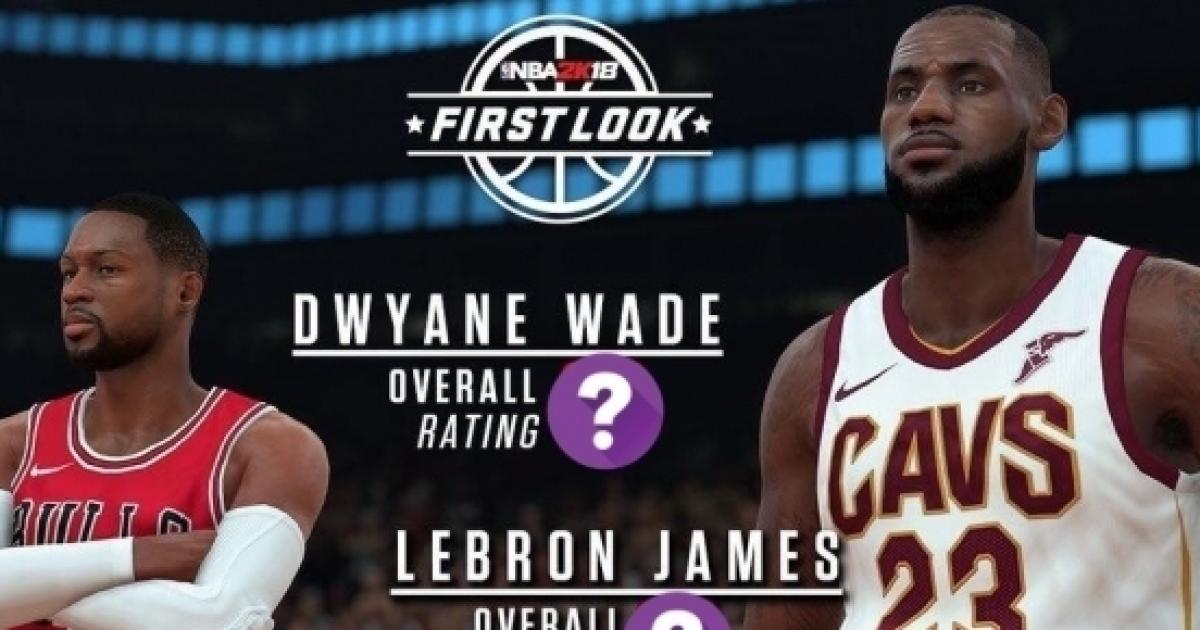7ecd5d47dd9 LeBron James and Dwyane Wade's NBA 2K18 ratings have been revealed
