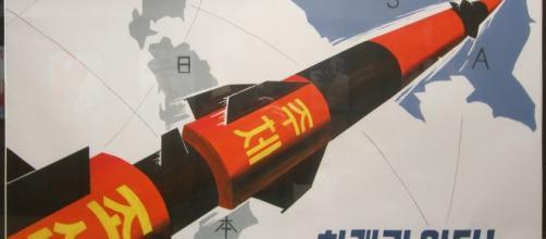 A Pyongyang ICMB propaganda poster. Photo: Tormod Sandtorv/Creative Commons