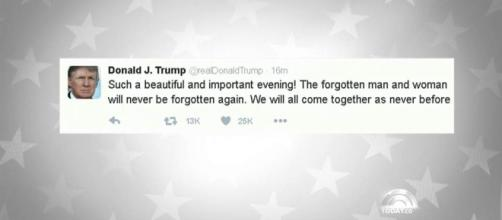 Donald Trump's First Tweet as President-Elect Says 'We Will Come ... - nbcnews.com