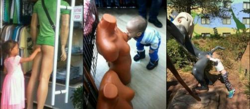 Fotos de crianças inocentes tiradas por adultos com mente poluída