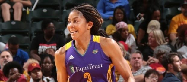 Candace Parker and the L.A. Sparks visit the Washington Mystics on Wednesday night. [Image via WNBA/YouTube]