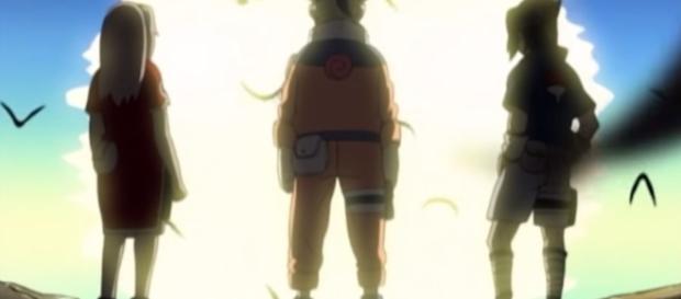 Naruto together with Sakura Haruno and Sasuke Uchiha in the first season of the Naruto anime Credits: Youtube/Animelab