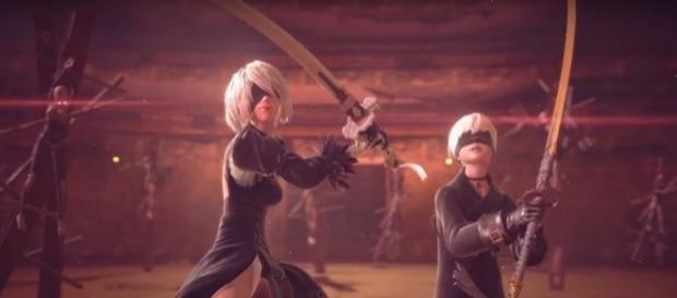 Nier: Automata Yoko Taro Hideki Kamiya (PlayStation/YouTube Screenshot) https://www.youtube.com/watch?v=wJxNhJ8fjFk