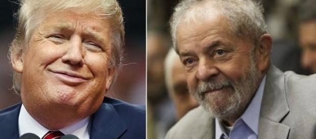 Presidente do Estados Unidos e o ex-presidente do Brasil