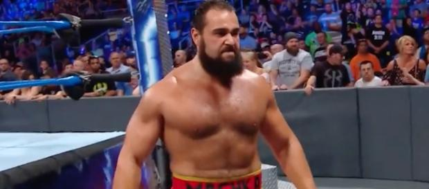 Rusev was in action on 'SmackDown Live' ahead of his match with Randy Orton at Sunday's 'SummerSlam' PPV. [Image via WWE/YouTube]