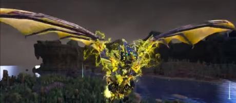 "A screenshot of a Tek Dragon in ""ARK: Survival Evolved."" - own"