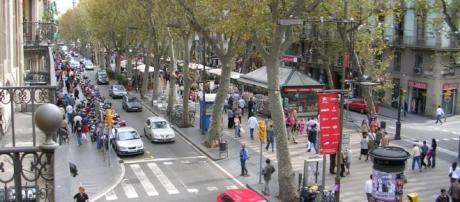 La Rambla a Barcellona - wikipedia.org