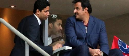 Al Khelaifi & Al Thani. Crédit photo : 90min.com