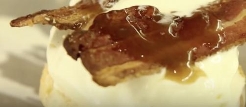 Bacon on ice cream. [Image via YouTube/Destination America]