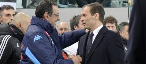 Maurizio Sarri e Massimiliano Allegri - gazzetta.it
