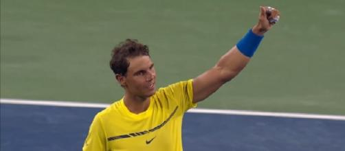 Nadal celebrating his win over Gasquet in Cincinnati/ Photo: screenshot via ATPWorldTour channel on YouTube