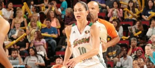 Sue Bird and the Storm will host the Minnesota Lynx on Wednesday in Seattle. [Image via WNBA/YouTube]