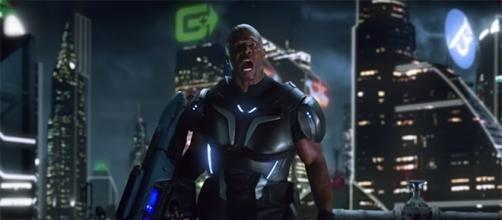 "Terry Crews stars in ""Crackdown 3"" as Commander Jaxon. (YouTube/Xbox)"