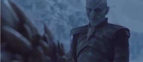 """The Night King reviving Dany's dragon in """"Game of Thrones."""" - YouTube/Real world"""