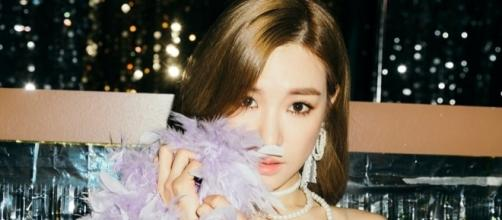"Tiffany's promotion for ""Holiday Night"" (via pre-release promotions by SM Entertainment)"