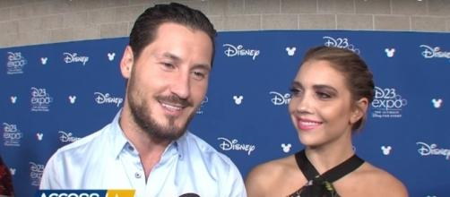 Val Chmerkovskiy gushes about his girlfriend Jenna Johnson in recent interview. (YouTube/Access Hollywood)