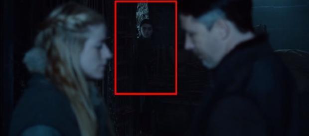 Arya Stark spies on Littlefinger (Davos Seaworth / YouTube)