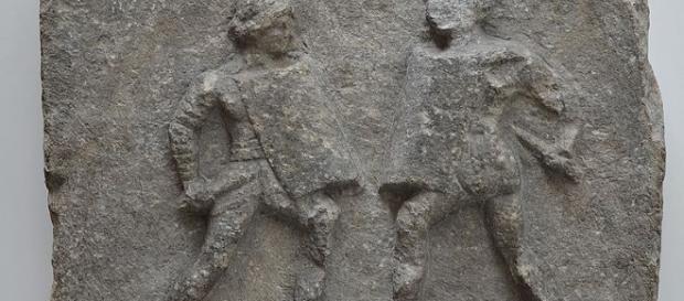 Marble relief of female gladiators (Carole Raddato wikimedia)