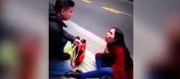 O homem foi embora sem olhar para trás (Foto: Captura de vídeo)