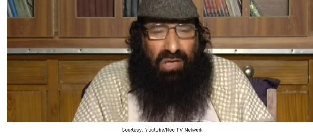 Mohammad Yusuf Shah of Hizbul Mujahideen. [Image via Youtube/Neo TV Network]